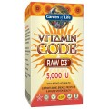 RAW D3 5000iu Vitamin Code 60kaps Garden of Life