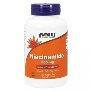 Niacynamid 500mg  Now Foods 100kaps Niacyna Niacin