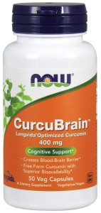 Now Foods CurcuBrain 400mg 50caps
