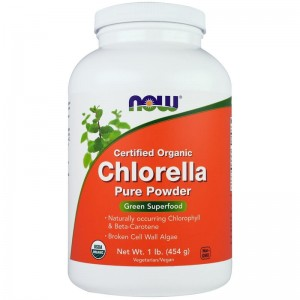 Chlorella Now proszek  454g Now Foods