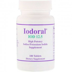 Jodoral Jod 12.5mg 180 tabletek Optimox Iodoral