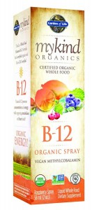 B-12 Spray  Garden of Life B12 Mykind Organic