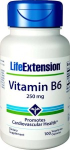 Vitamin B6 250 mg 100 kaps Life Extension
