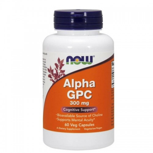 Alpha GPC 300mg 60 kapsułek Now Foods