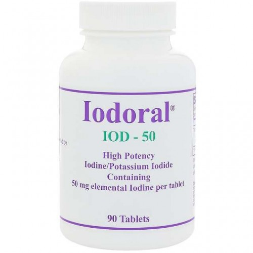 Jodoral Jod 50mg IOD-50 90 tabletek Optimox Iodoral