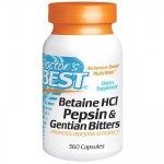 Betaina HCL 650mg Betaina z Pepsyną i Goryczką 360kaps. Doctor's Best Betaine Best