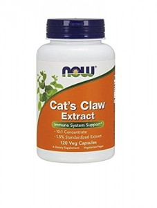 Cat's Claw Ektrakt 10:1 120kaps Now Foods