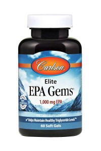 Elite EPA Gems 1,000 mg  60kaps.  Carlson Laboratories