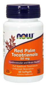 Now Foods Red Palm Tocotrienols 50mg 60 Softgels  Tokotrienole