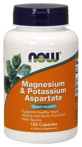 Magnesium Potassium Aspartate with Taurine - 120 kapsułek Magnez i Potas Now Foods