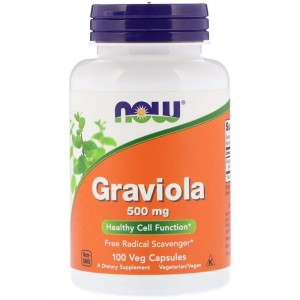 Graviola 500mg  Now Foods 100kaps. Grawiola