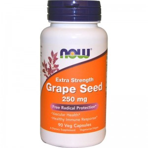 Grape Seed 250mg Now Foods 90kaps. Ekstrakt z Pestek Winogron