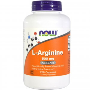 L-Arginine 500mg Now Foods 250kaps. Arginina