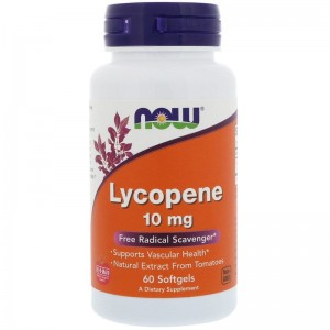 Lycopene 10 mg Now Foods 60kaps.