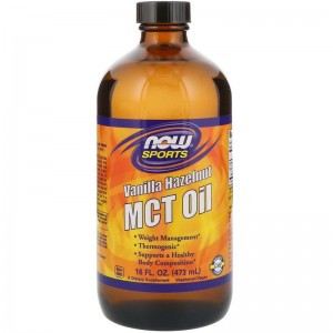 MCT Oil Vanilla Hazelnut  473 ml Now Foods Sports