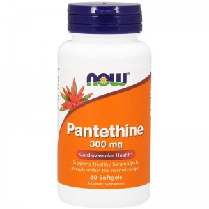 Pantethine 300mg  Now Foods 60kaps. Pantetina