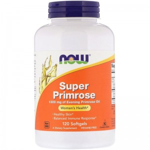 Super Primrose 1300mg Now Foods 120kaps.
