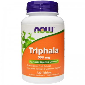 Triphala 500mg Now Foods 120tabl.
