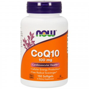 CoQ10 z Witaminą  E 100mg Now Foods 150kaps.
