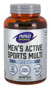 Men's Active Sports Multi 180 Softgels Now Foods