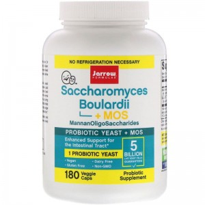 Jarrow Formulas Saccharomyces Boulardii + MOS 5 Billion 180 kaps.