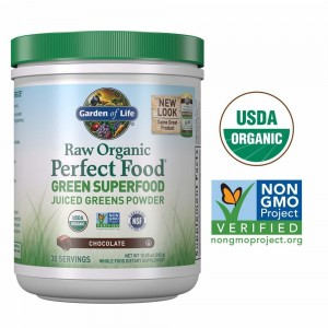 Perfect Food Chocolate Cocoa Raw Organic 285g Garden of Life Green Superfood