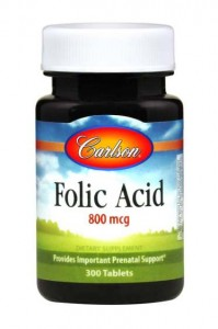 Kwas Foliowy  800mcg 300 tabletek Carlson Laboratories Folic Acid