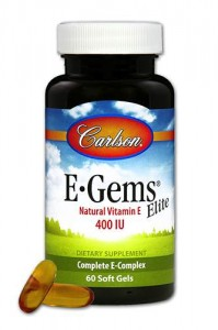 Tokotrienole i Tokoferole E ELITE 400iu 60kaps. Carlson Laboratories E Gems Elite Vitamin E