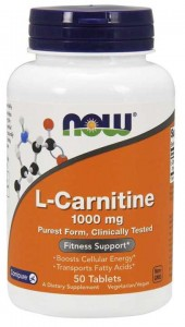 L-Karnityna 1000mg Now Foods 50tabletek