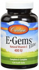 Tokotrienole i Tokoferole E ELITE 400iu 120kaps. Carlson Laboratories E Gems Elite Vitamin E