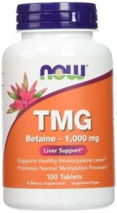 TMG 1000 Now Foods 100tabl. Trimetyloglicyna betaina