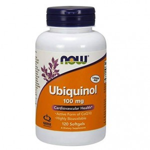 Ubichinol 100mg  120 kapsułek Now Foods Ubichinon - Kaneka QH Ubiquinol