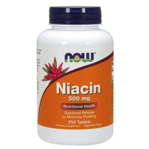 Niacyna 500mg  Now Foods 250tabl. Niacin