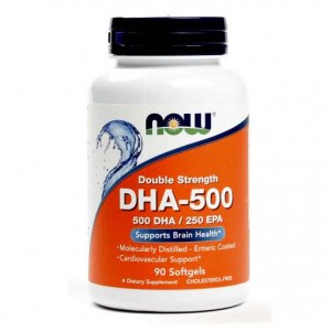 DHA-500  90kaps. Now Foods