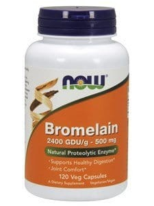 Bromelaina 500mg 2400 GDU  Now Foods 120 kapsułek