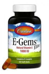 Tokotrienole i Tokoferole E ELITE 1000iu 60kaps. Carlson Laboratories E Gems Elite Vitamin E