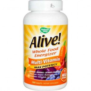 Alive! Multiwitamina Max Potency 180tabl. Nature's Way Multiwitaminy