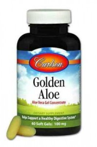 Golden Aloe Vera 100mg 60 kapsułek Carlson Laboratories Aloes