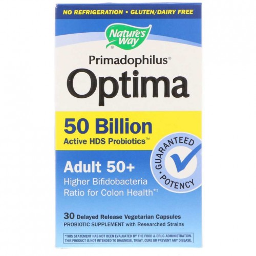 Nature's Way, Primadophilus Optima, Adult 50+, 30kaps.
